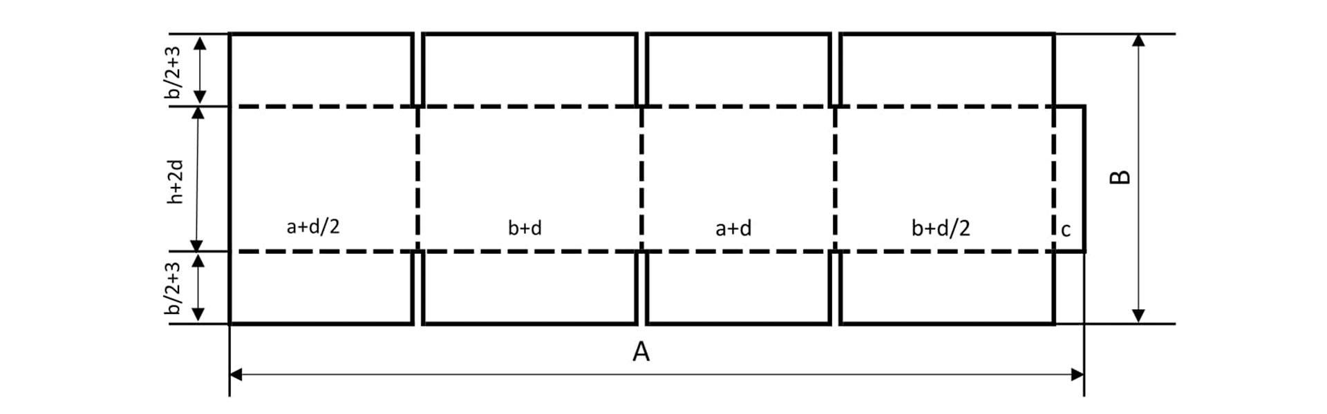 Фото - Раскройная карта четырехклапанной коробки