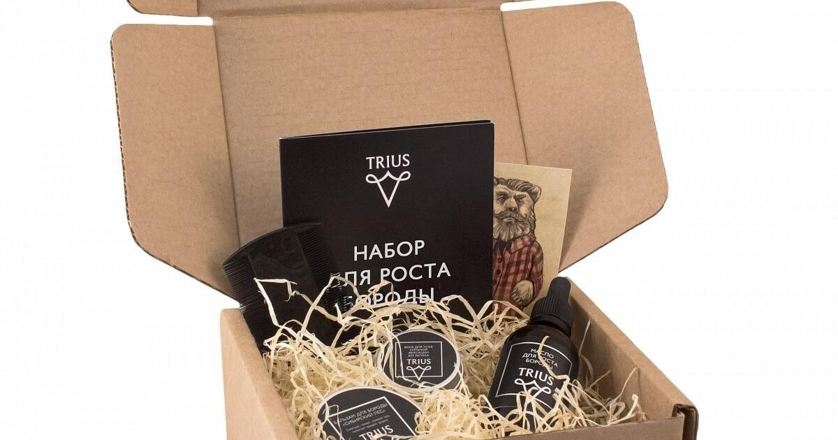 Фото - Подарочная коробка для средств по уходу за усами и бородой в Полиграф-Сити